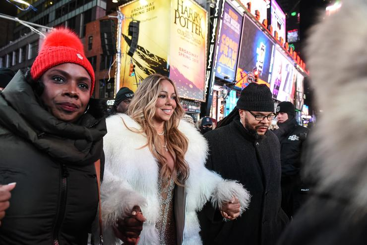 Mariah Carey in times square for new year's eve 2018