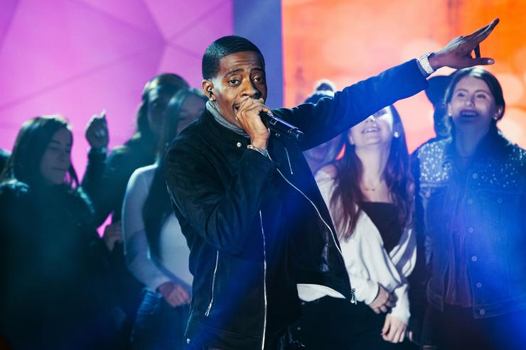 Rich Homie Quan performing at TRL