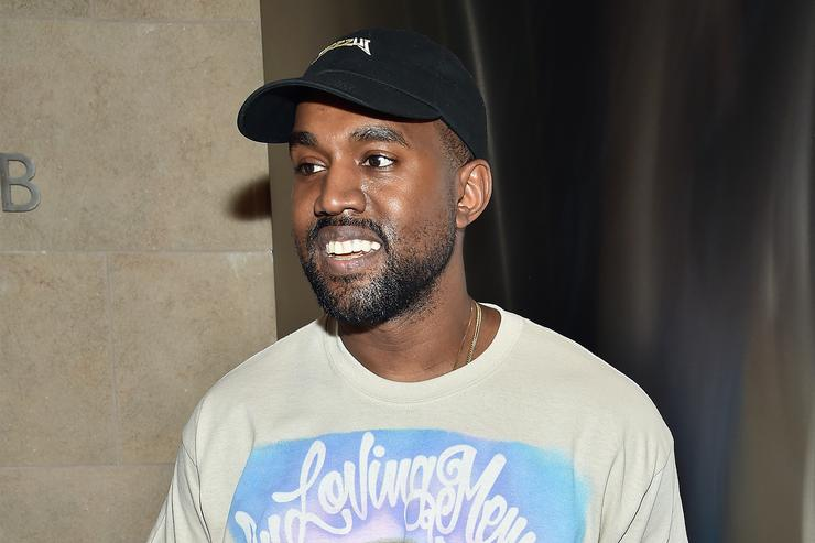 Kanye West in his DONDA T-shirt