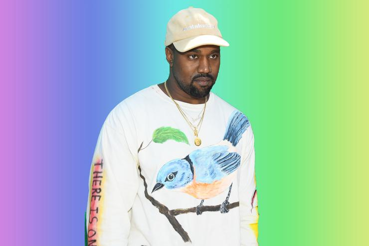Kanye West at Virgil Abloh's Louis Vuitton runway show 2018