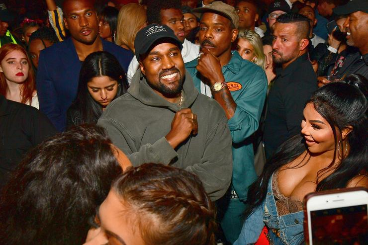 Kanye West at the Teyana Taylor listening party
