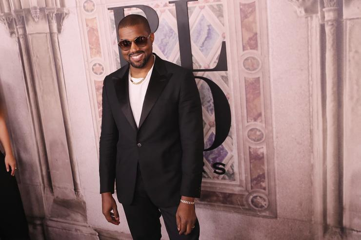 Kanye West at Ralph Lauren event