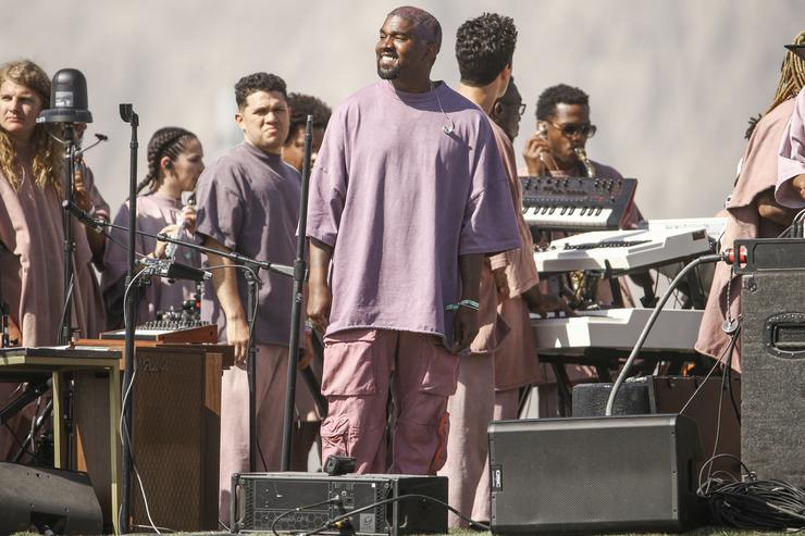 "Kanye West at his Coachella ""Sunday Service"" 2019"