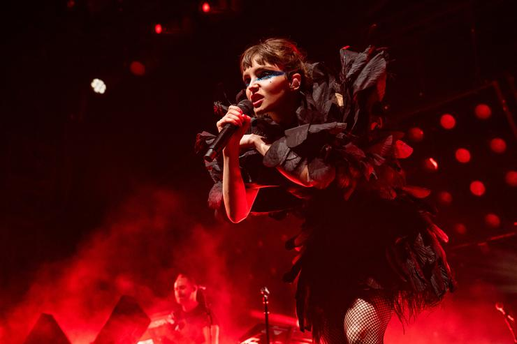 Lauren Mayberry of Chvrches performs during the 2019 Coachella Valley Music And Arts Festival on April 21, 2019 in Indio, California