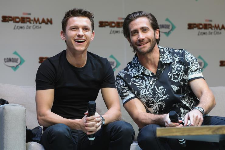 Tom Holland and Jake Gyllenhaal of Spider-Man: Far From Home