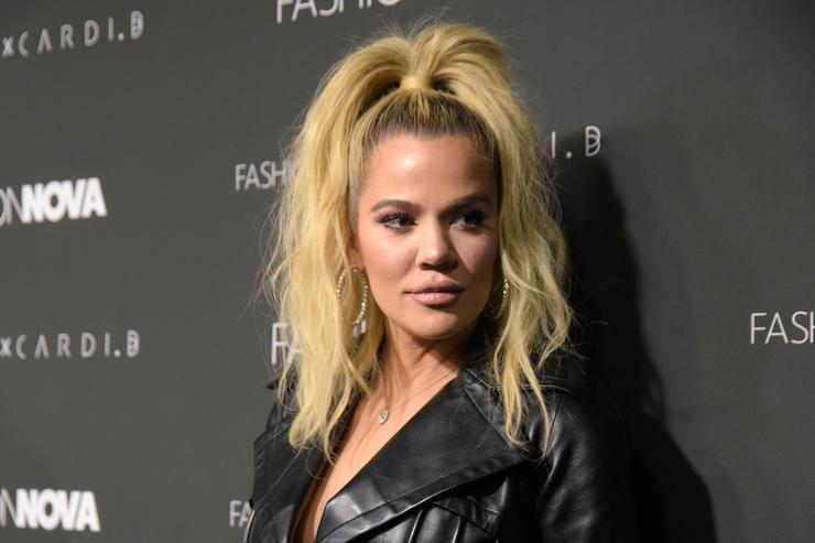 Khloe Kardashian attends the Fashion Nova x Cardi B collaboration launch event at Boulevard3 on November 14, 2018 in Hollywood, California
