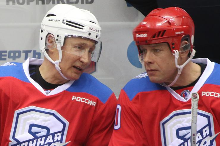 Russian President Vladimir Putin scores eight goals in all-star hockey game