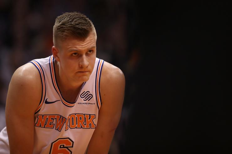 Video surfaces of bloody Kristaps Porzingis after Latvia fight