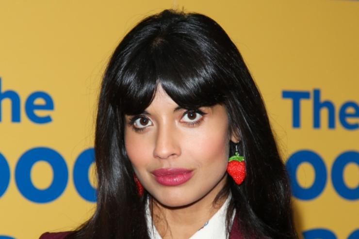 """Actress Jameela Jamil attends the FYC screening of Universal Television's """"The Good Place"""" at UCB Sunset Theater on June 19, 2018 in Los Angeles, California."""