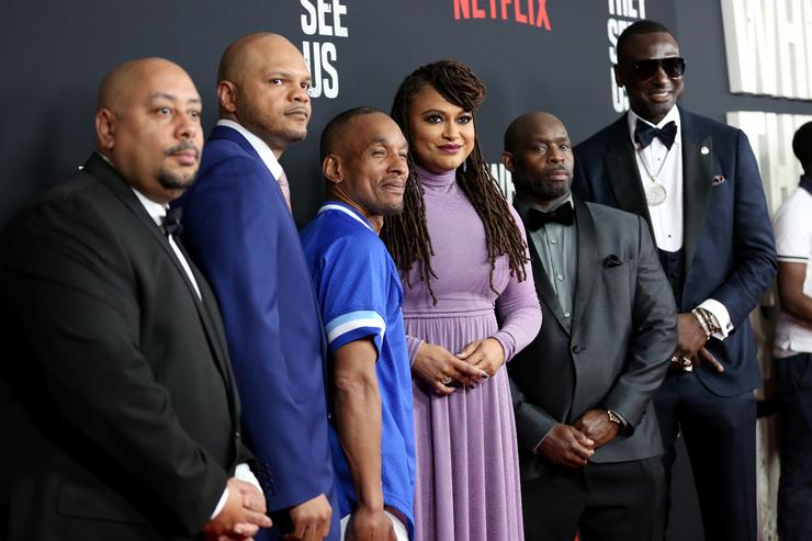 """Raymond Santana Jr., Kevin Richardson, Korey Wise, Ava DuVernay, Antron Mccray, and Yusef Salaam attend the World Premiere of Netflix's """"When They See Us"""""""