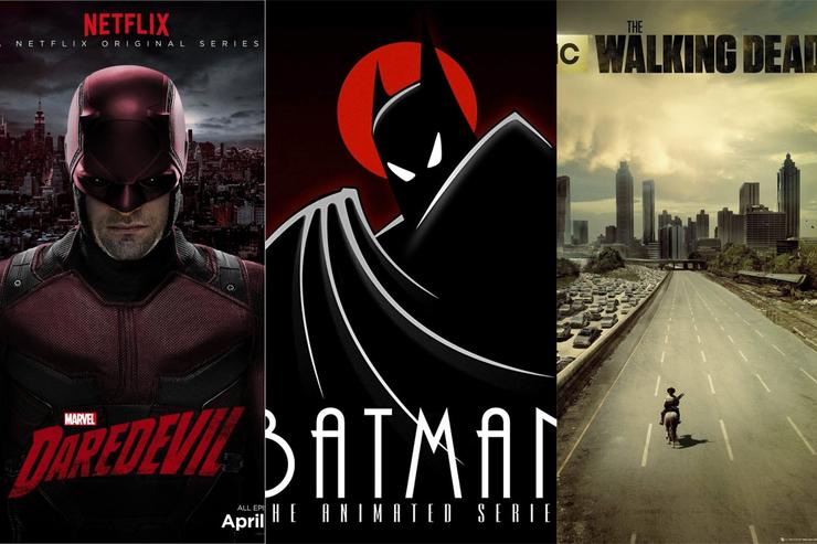 "Official posters for ""Daredevil,"" ""Batman"" and ""The Walking Dead"""