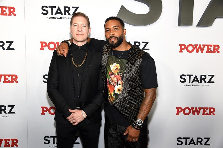 """Joseph Sikora and Omari Hardwick at STARZ Madison Square Garden """"Power"""" Season 6 Red Carpet Premiere, Concert, and Party on August 20, 2019 in New York City."""