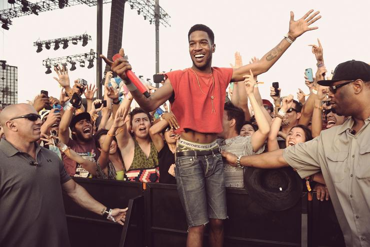 Kid Cudi performs onstage during day 2 of the 2014 Coachella Valley Music & Arts Festival at the Empire Polo Club on April 12, 2014 in Indio, California