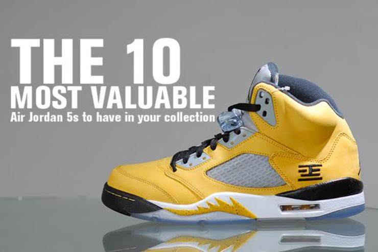 e676ce8fed669a The 10 Most Valuable Air Jordan 5s To Have In Your Collection