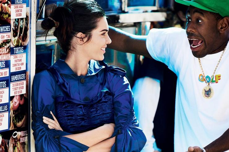 Kendall Jenner & Tyler, The Creator's fashion shoot.