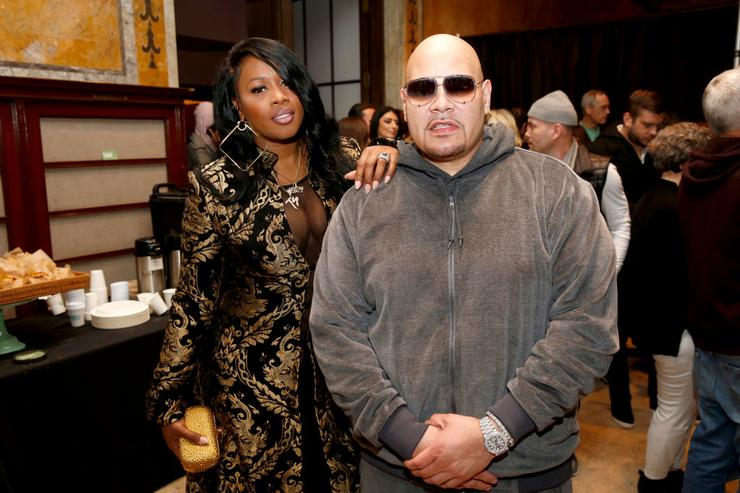 Fat Joe (R) poses backstage for the Philipp Plein Fall/Winter 2017/2018 Women's And Men's Fashion Show at The New York Public Library on February 13, 2017 in New York City.