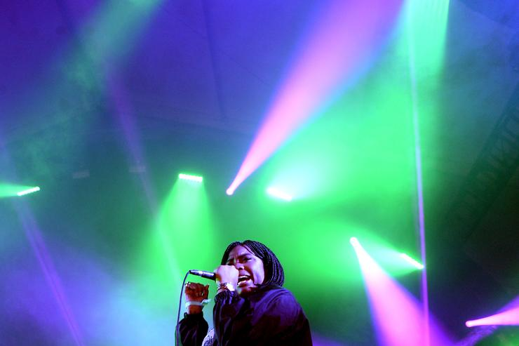 Kamaiyah performs at fyf fest